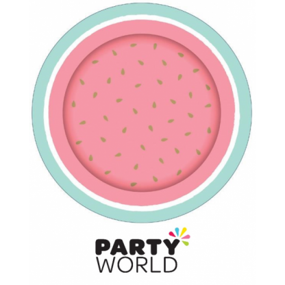 Tropical Watermelon Party 9inch Paper Plates (8)