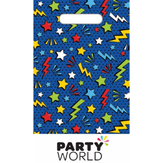 Superhero Plastic Party Loot Bags (8)