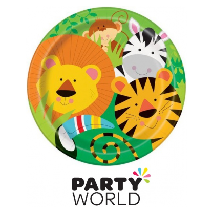 Animal Jungle Party Paper Plates 9in (8)
