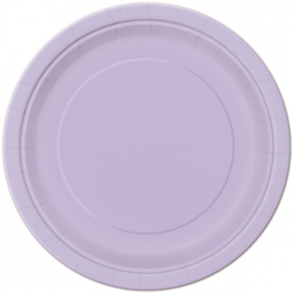 Lavender Round Paper Plates 7in (20)