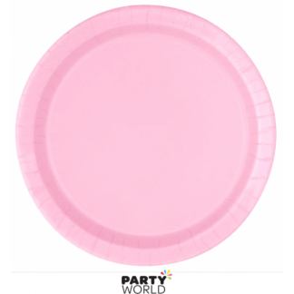 Lovely Pink Paper Round Plates 9in (16)