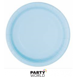 Powder Blue Paper Plates - 9inch (16)