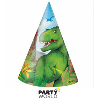 Dinosaur Party Hats (8)