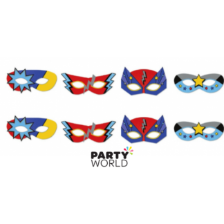 Superhero Party Masks (8)