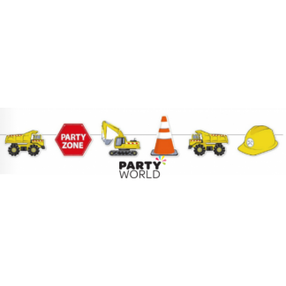 Construction World Party Bunting - 2m