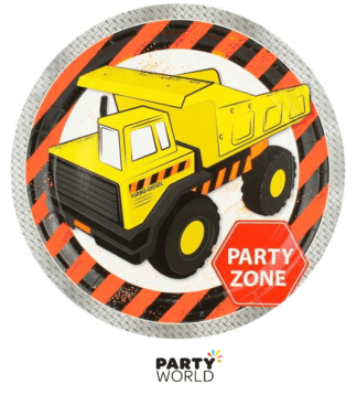 construction party plates