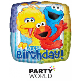 Sesame Street Happy Birthday Foil Balloon