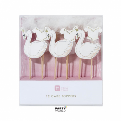 Swan Cake Toppers (12)
