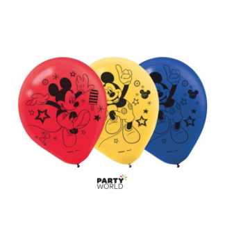 Mickey Mouse Latex Balloons (6)