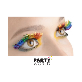 Rainbow Tinsel Eyelashes - Self Adhesive