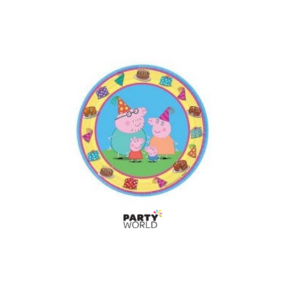 Peppa Pig Paper Plates 7in (8)