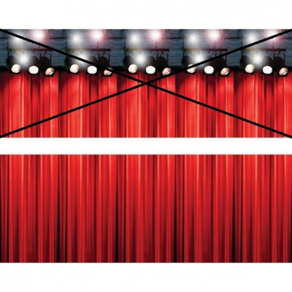 Changing Spaces Stage Curtain - Bottom And Top Panel
