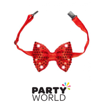 Sequin Bow-Tie Red