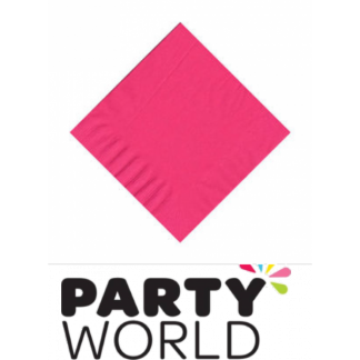 Hot Pink Luncheon Napkins (20pcs)