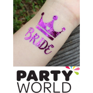 Bride Pink-Purple Flash Tattoos