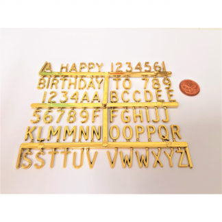 Mini Plastic Gold Letters And Numbers