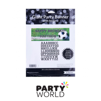 Soccer Giant Party Banner With Stickers