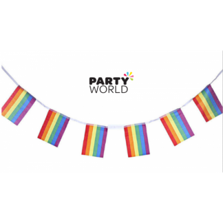 Rainbow Flag Bunting 5m - Fabric