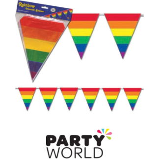 Rainbow Stripes Pennant Banner (3.66m)