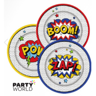 Superhero Paper Plates 9in (8)