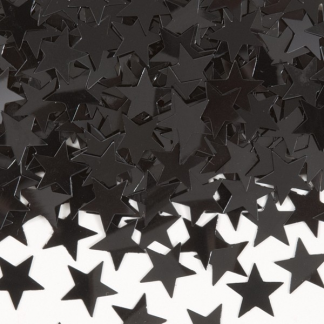Black Star Confetti Assorted Sizes (15g)