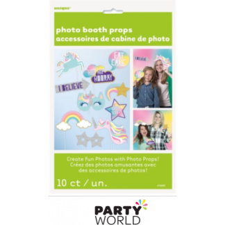 Unicorn World & Rainbow Party Photo Props (10)