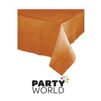 Pumpkin Spice Paper Plastic-Lined Tablecover
