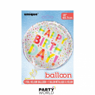 Donut Party Foil Balloon 18in