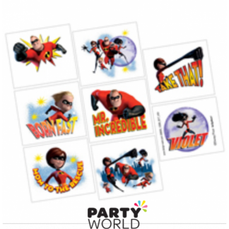 The Incredibles 2 Temporary Tattoo Squares (8)