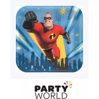 The Incredibles 2 Square Paper Plates 7 in (8)