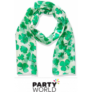 St Patricks Day Shamrock Scarf