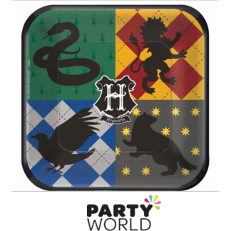 Harry Potter Houses Paper Square Plates 7 in. (8)