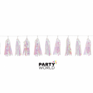 Iridescent Tassel Garland 9ft