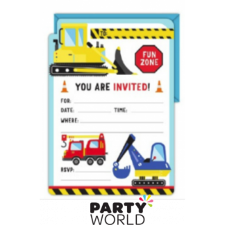 Construction World Party Invitations (16)