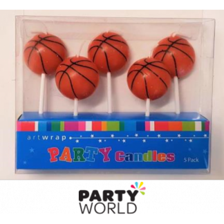 Basketball Party Candles (5)