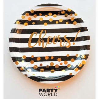 Cheers Paper Party Plates 9in (8)