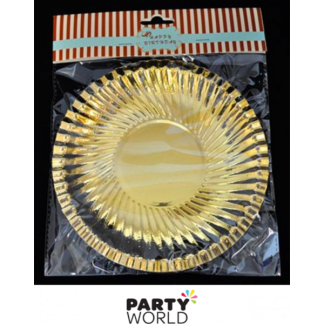 Gold Foil Paper Plates 7in (8)