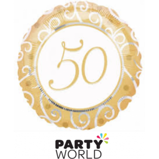 50 Gold Foil Helium Balloon
