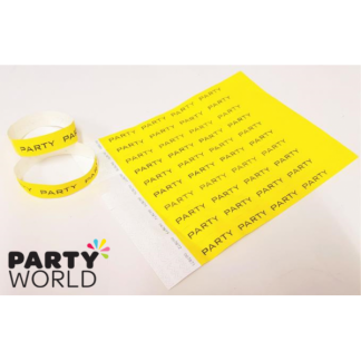 Yellow Party Disposable Tyvek Security Wristbands (10)