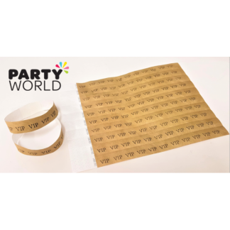 Gold VIP Disposable Tyvek Security Wristbands (10)