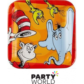 Dr Seuss Square Paper Plates 9in (8)