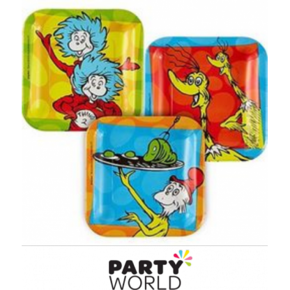 Dr Seuss Square Paper Plates 7in (8)