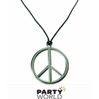 Peace Sign Necklace 63.5cm