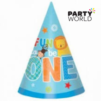 One Wild Boy Paper Party Hats (8)