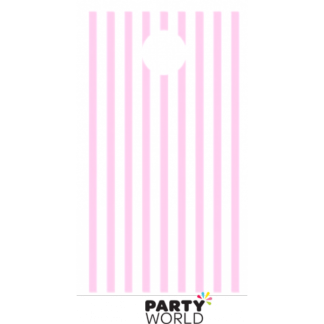Baby Pink Stripe Paper Treat Bags (12)