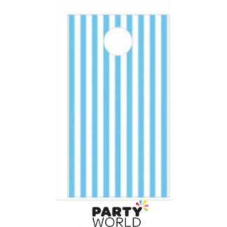 Light Blue Stripe Paper Treat Bags (12)