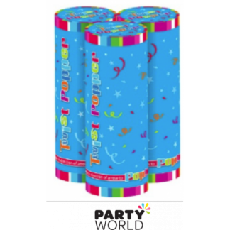 Confetti Twist Poppers / Mini Cannons (3)