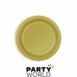 Gold Plastic Plates 7in (25)