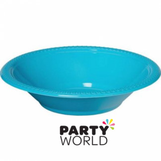 Caribbean Teal Plastic Bowls - 7inch (8)