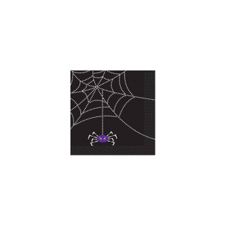 Spider Web Halloween Beverage Napkins (16)